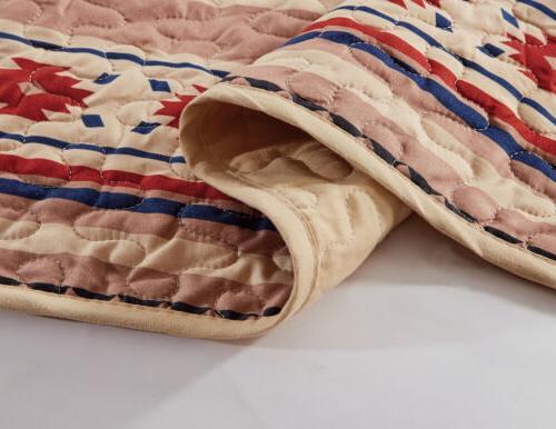 Chezmoi Collection Tribal Multi-color Bedspread Set