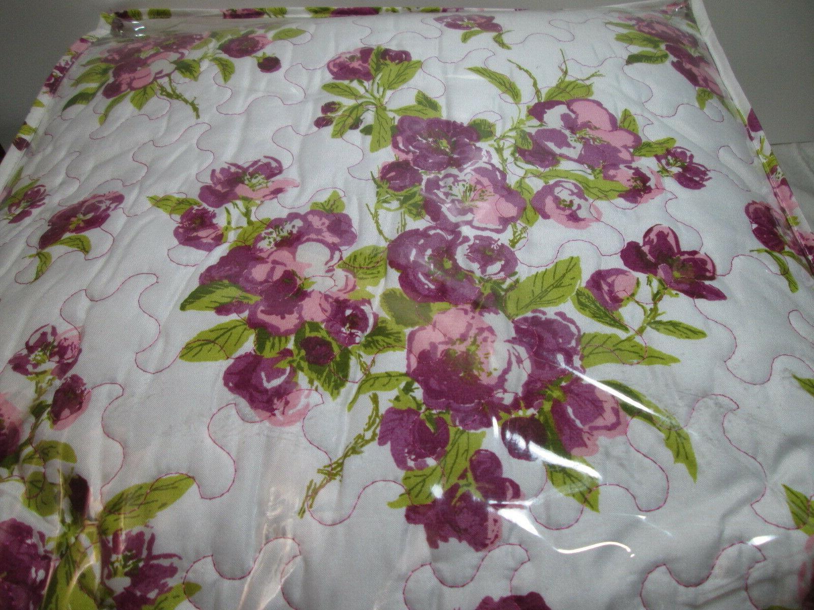 3 pieces Waverly PRIMROSE PATIO- Violet Floral King NEW