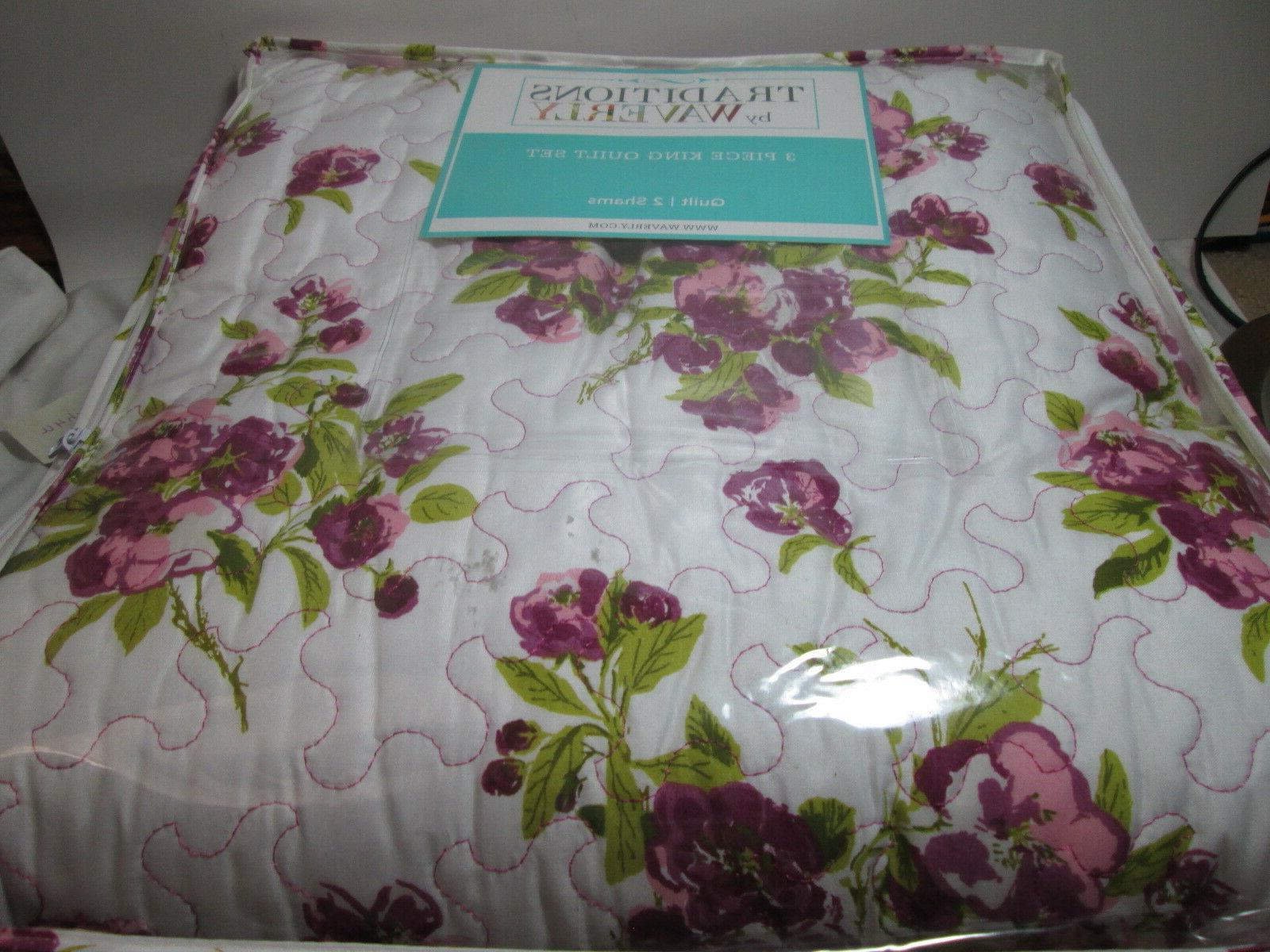3 pieces primrose patio violet floral king