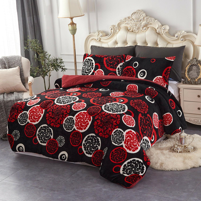 3 Pieces Borrego Fleece Comforter Comforter