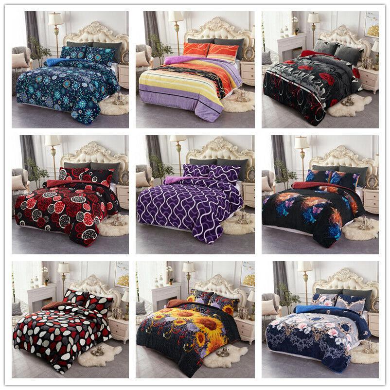 3 pieces ultra soft borrego fleece comforter