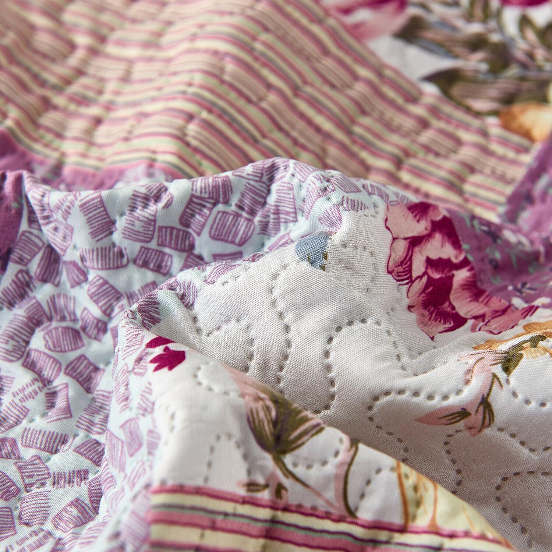 3pc Plaid Bedspread/Quilt