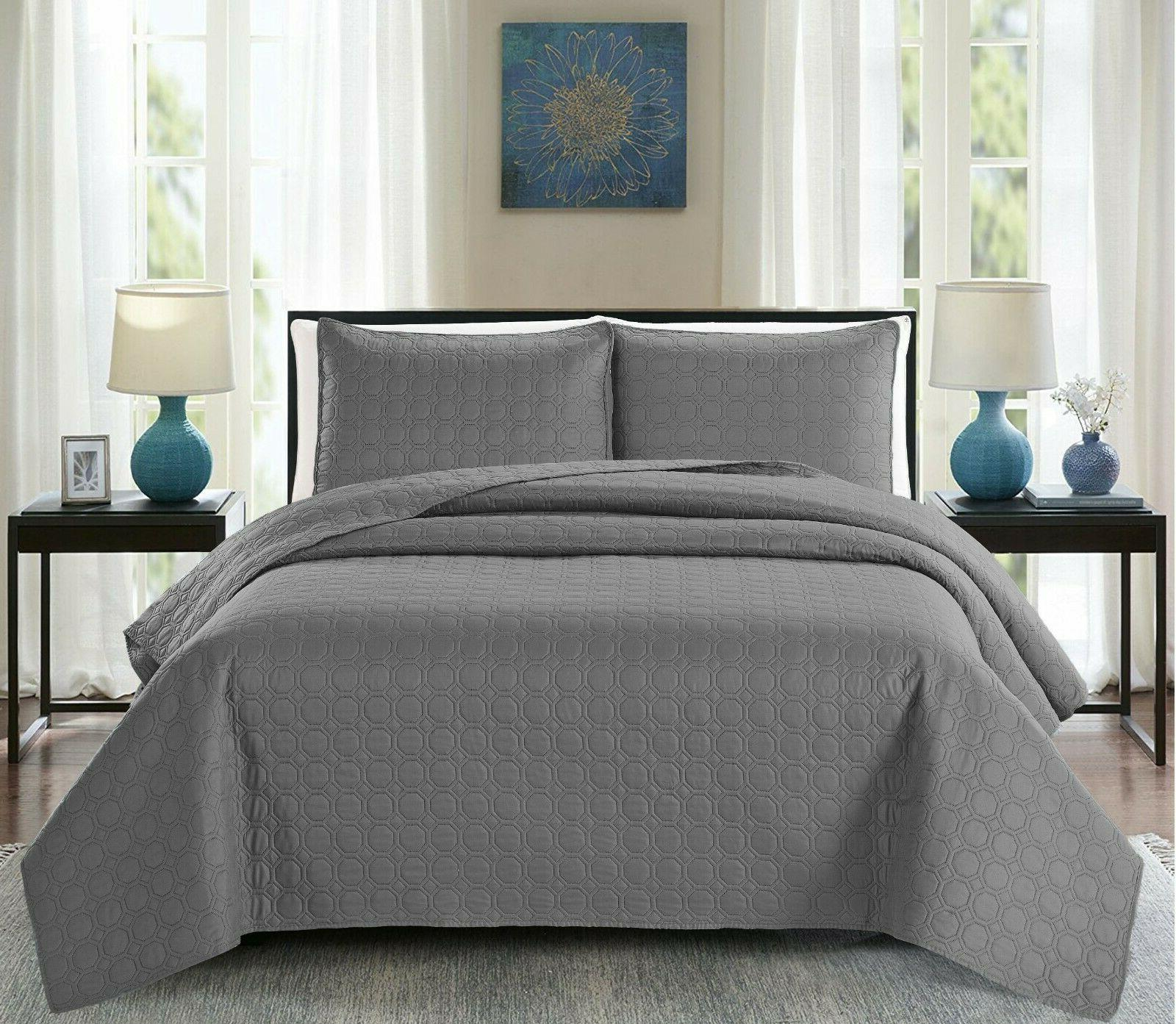 3PC, Regal Home Solid Queen Size Set