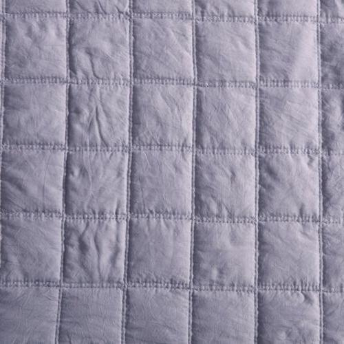 3pc Stone Microfiber Coverlet Bedspread Set