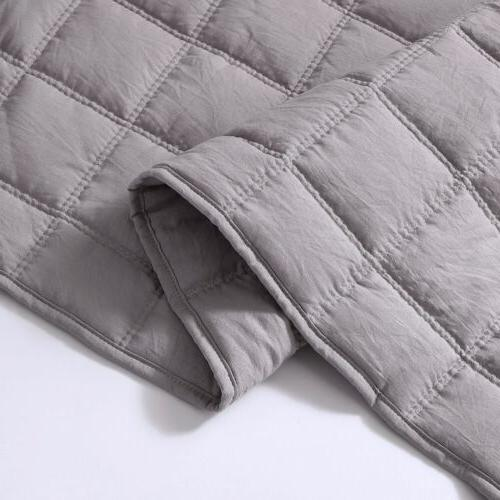 3pc Stone Coverlet Bedspread Quilt