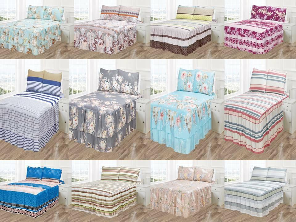 3pc vicky bedspread coverlet set printed pinsonic