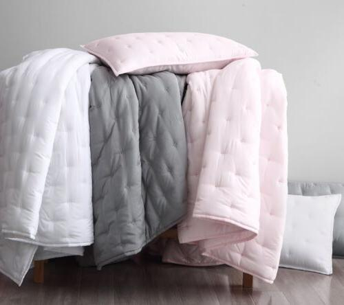 3pcs Light Fiber Cooling Blanket Cross-Stitch Quilted