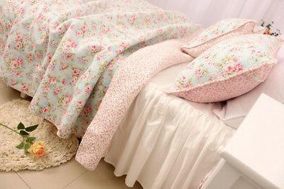 3PCS Chic Country Rose Quilt Queen