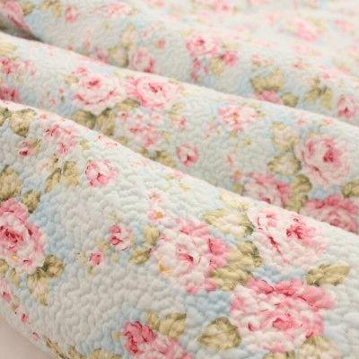 3PCS Shabby Rose Queen Cotton