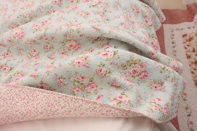 3PCS Shabby Rose Quilt Bedspread Queen 100%