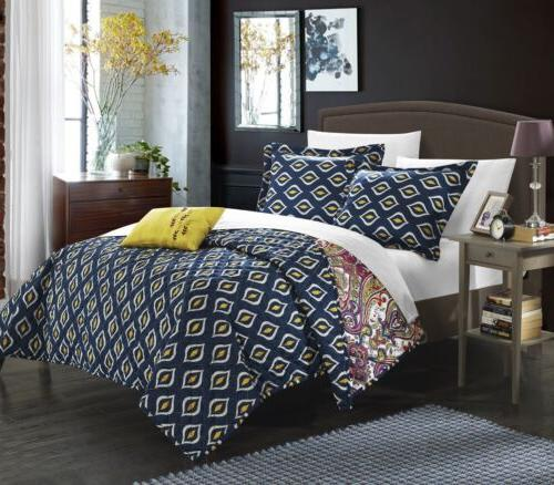 4 piece vedara reversible quilt set king