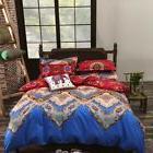 4pcs Modern Bedding Set Paisley Mandala Hippie Duvet Quilt C