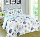 6 piece sea figures reversible print quilt