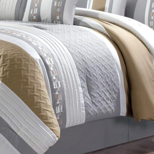 Chezmoi 7-Piece weave Embroidered Set