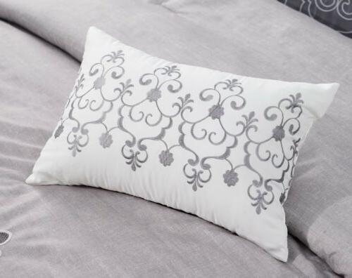 Chezmoi Collection White Comforter Set