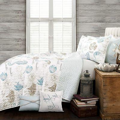 Lush Harbor Life Quilt King, Blue