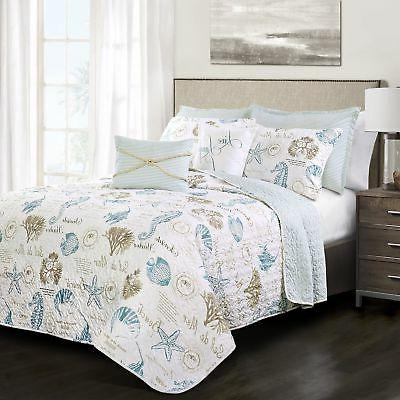 7 piece harbor life quilt set king