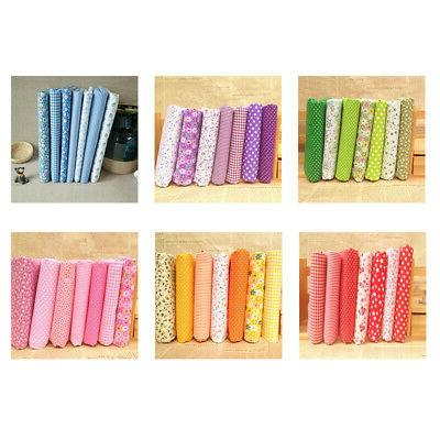 7 Pieces Assorted Quarter Bundle Cotton Sewing Set