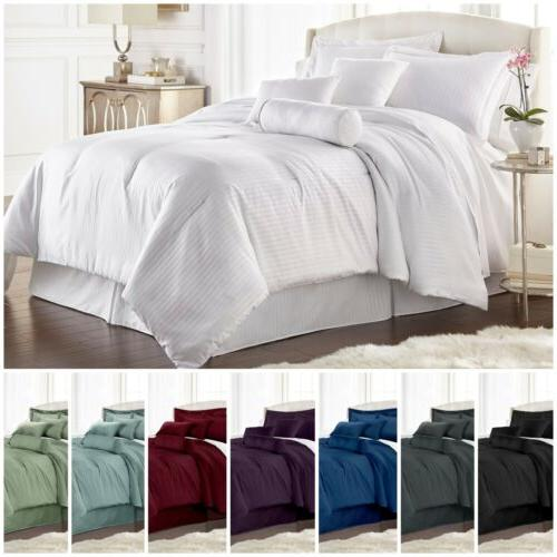 7 pieces solid color hotel style dobby