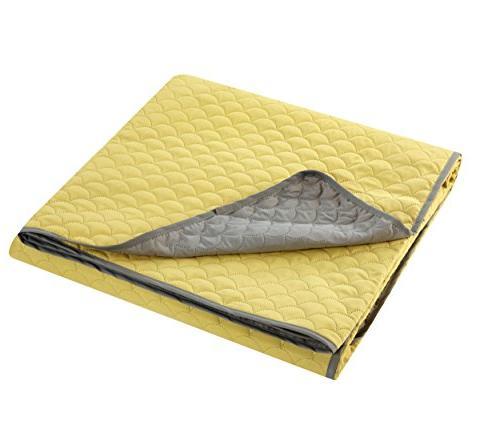 Chic Home 2 Teresa Reversible Modern Quilt Yellow