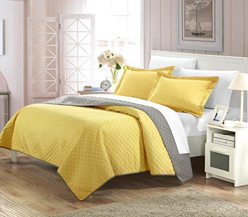 Chic Home Teresa Modern Set, Twin, Yellow