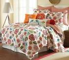 Levtex home Abigail Quilt Set, King, Orange, Blue, Red