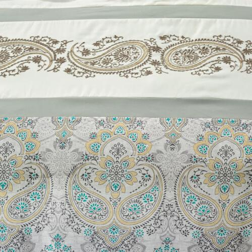 Chezmoi Medallion Embroidered Comforter