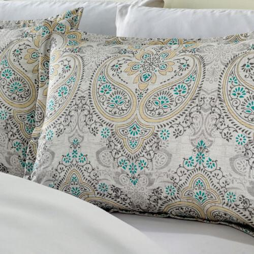 Chezmoi Collection 7-Piece Medallion Paisley Set