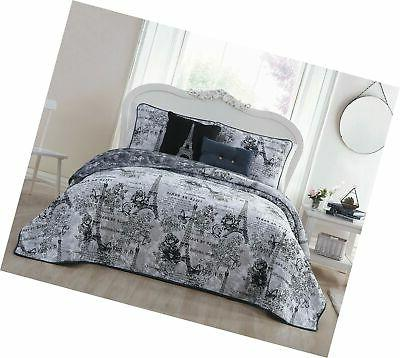 amour 5 piece quilt set queen black