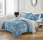 Chic Home Angel 4 Piece 100% Cotton Quilt Set Reversible Pri