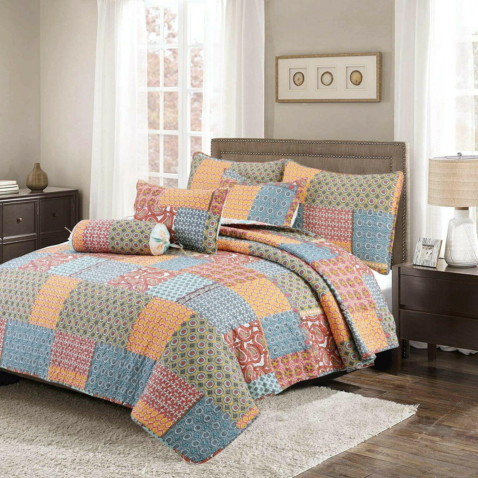 Antique 3-Piece Quilt Bedspread,