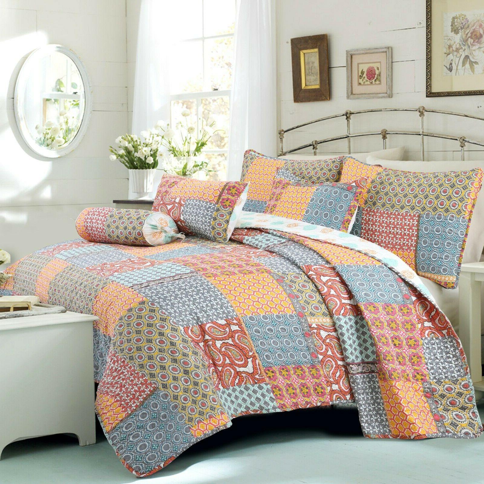 antique chic 3 piece reversible quilt set
