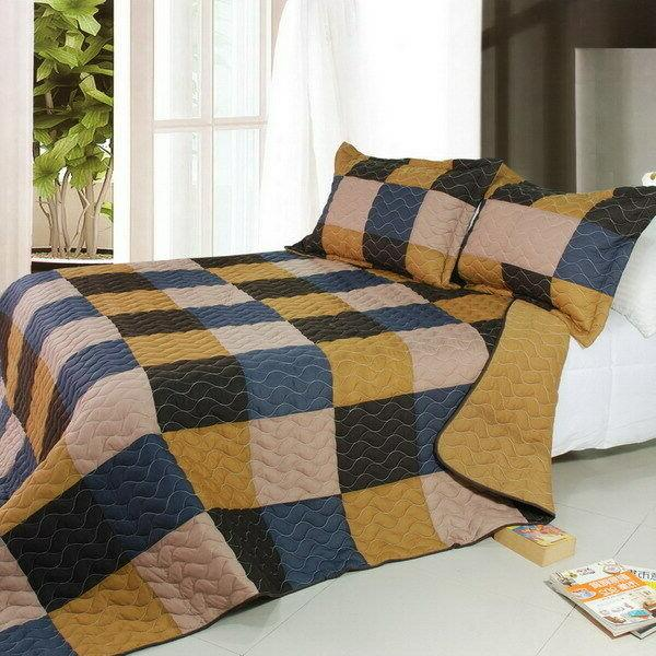 antique chic 3pc vermicelli quilted patchwork quilt