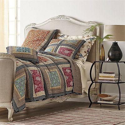 Artiz Sale Square Quilt Bedspread Shams Patchwork