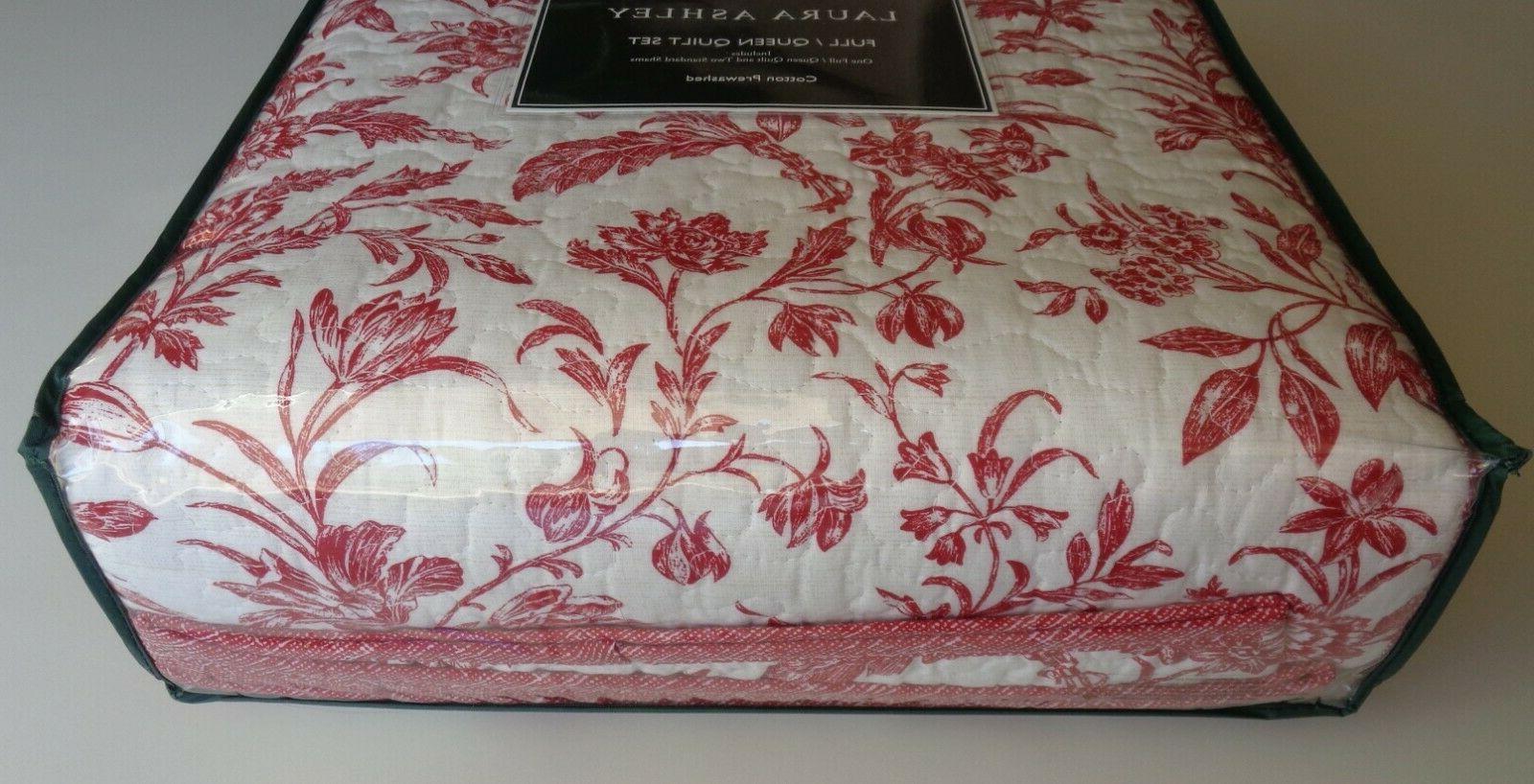 Laura Ashley Ashington Cranberry 3 Quilt Full RED