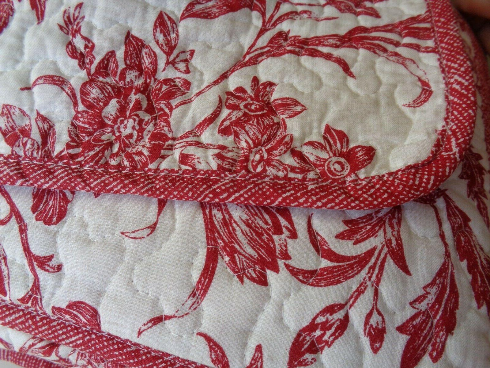 Laura Ashington Cranberry 3 Pc Reversible Quilt RED