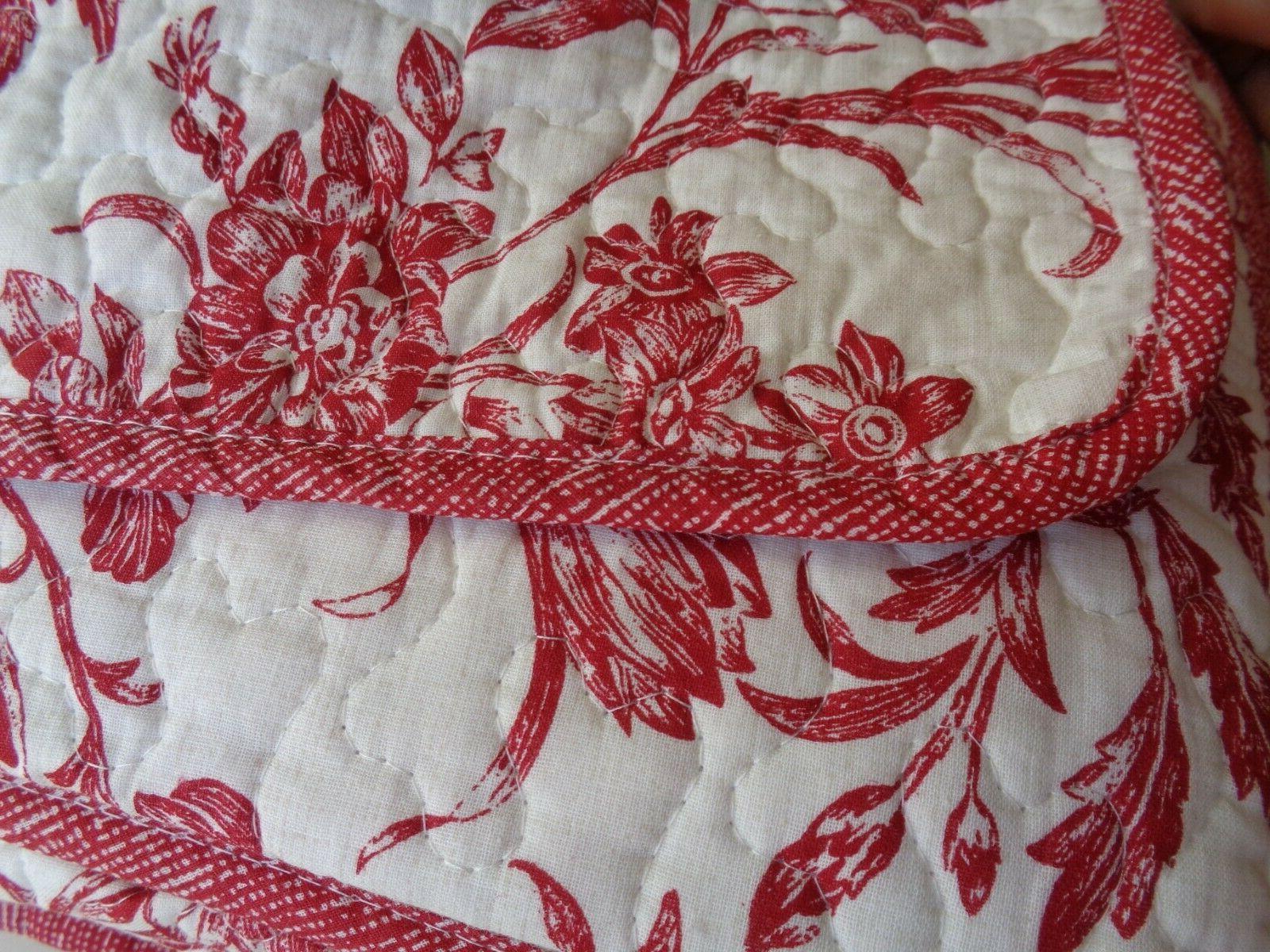 Laura Ashington Cranberry 3 Pc Reversible Quilt RED