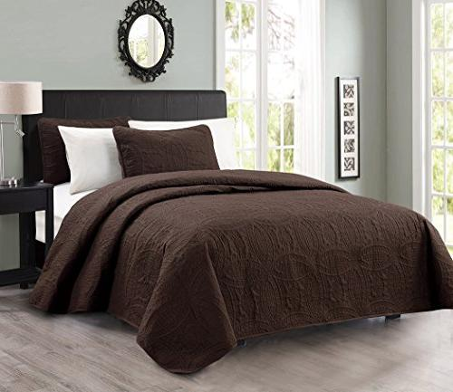 austin oversized bedspread coverlet set