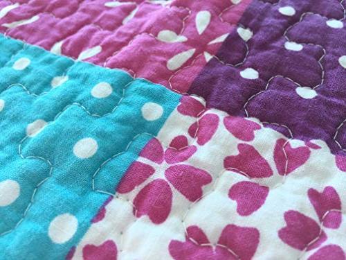 Cozy Home Ballerina Dance Princess Quilt Set, Orchid Light Purple Bedspread Kids