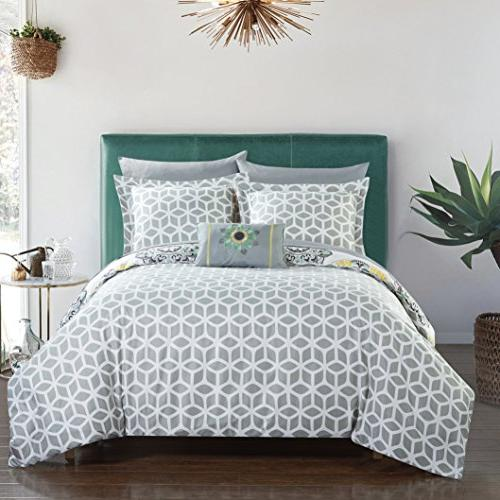 Chic Piece Comforter Geometric Medallion Pattern Print, Twin