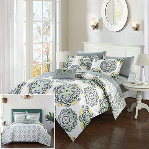 barcelona comforter set reversible geometric
