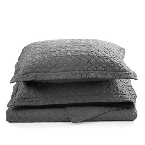 Bedsure Bedding King Quatrefoil Pattern
