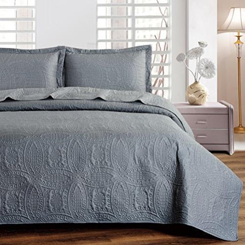 bedspread coverlet set charcoal