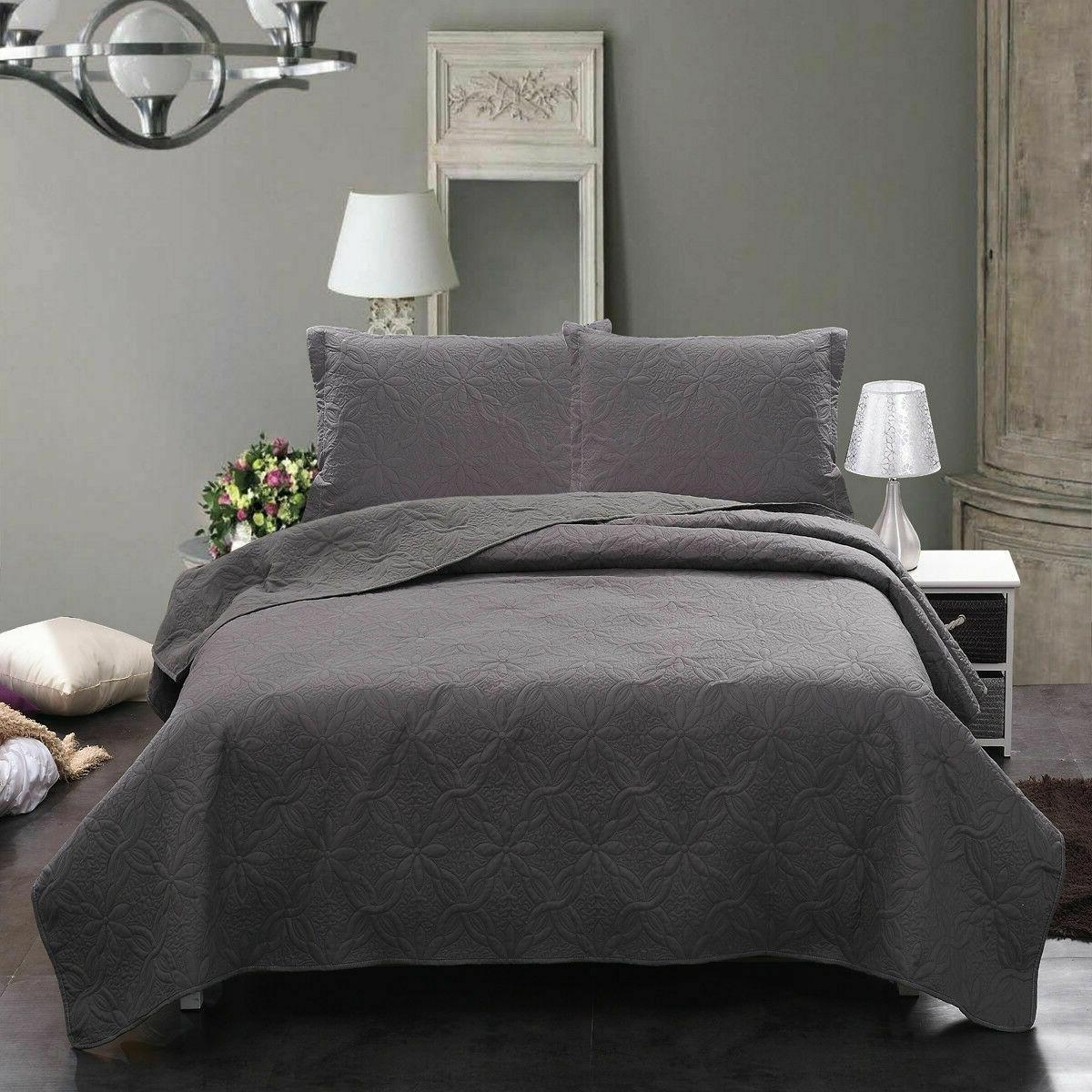 Bedspread Coverlet Set Comforter Bedding Quilt Set