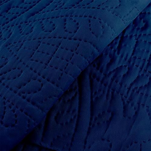 Mellanni Coverlet Set Navy - Comforter Oversized 3-Piece Set