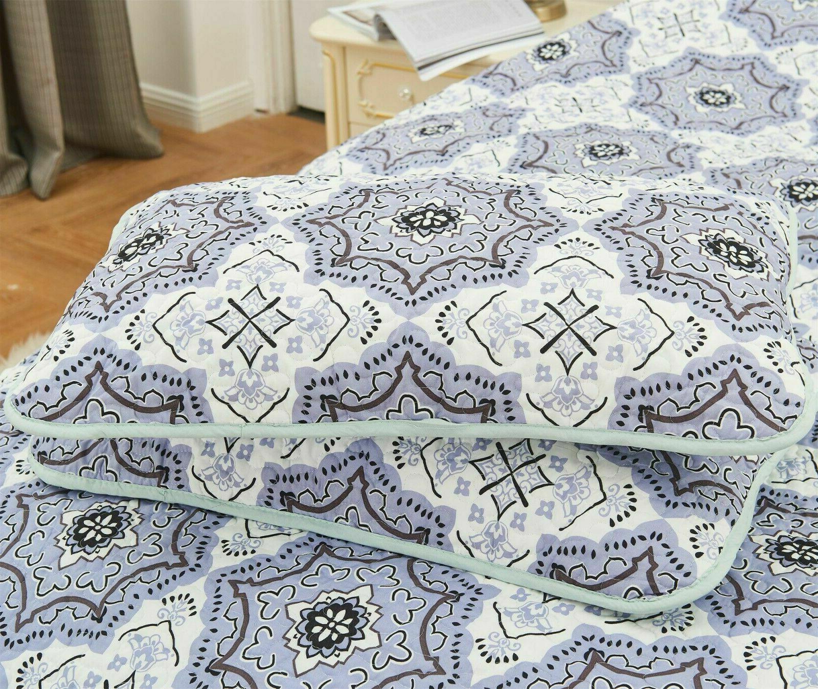 4 Set Printed Pattern King Queen Set Pillows