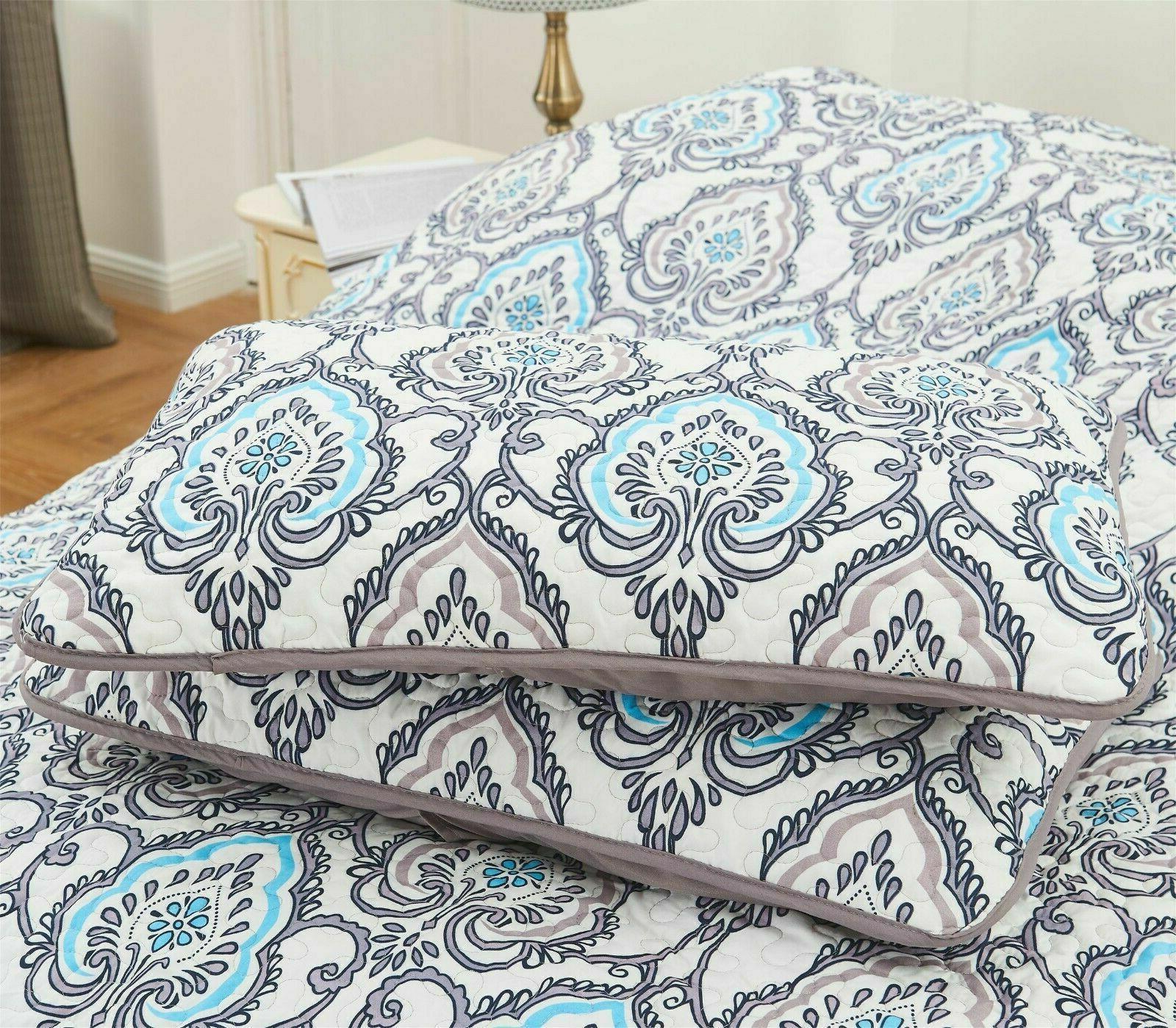 4 Bedding Set Pattern Queen Pillows Shams