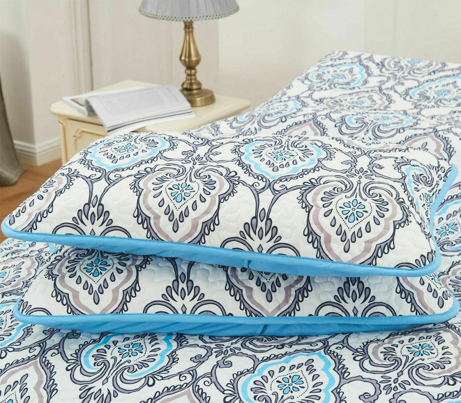 4 Quilted Set Queen Quilt Pillows