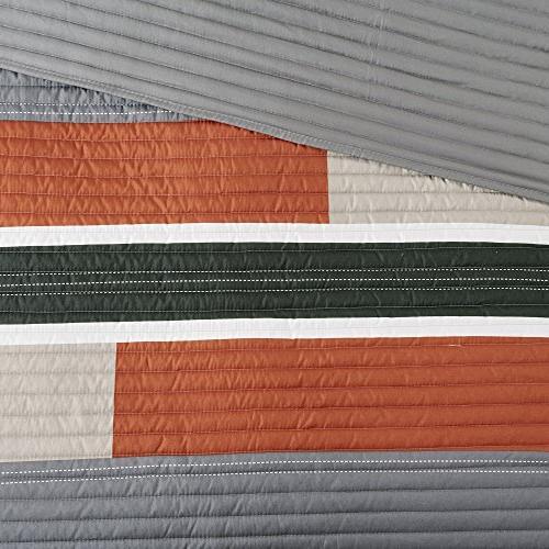 Bedspreads XL Casual Pierre Piece Kids Lightweight Filling Bedding Cover Orange All Season Fits Comfort