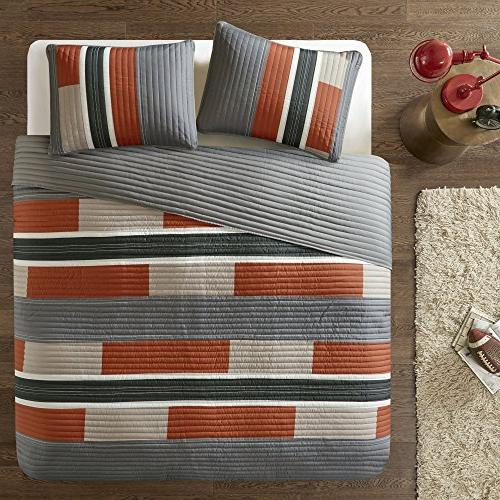 Bedspreads Twin Size Mini Casual Pierre 2 Kids Cover / Orange Patchwork All - Fits Twin/Twin Comfort